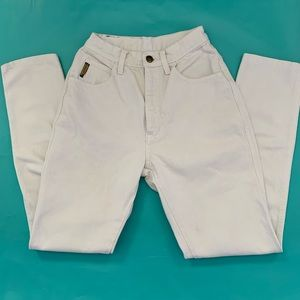 "Vintage white high-waist ""mom"" Armani Jeans, 4"